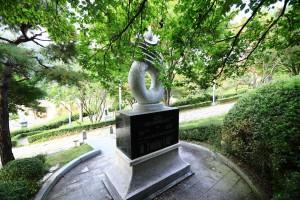뿌리공원 성씨비 (경주최씨,후면)